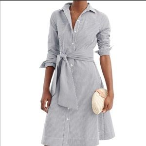 J. Crew | Tie-waist Shirtdress with Pocket…